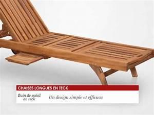 Bain De Soleil Teck : chaise longue bain de soleil en teck 200 cm tek import youtube ~ Teatrodelosmanantiales.com Idées de Décoration