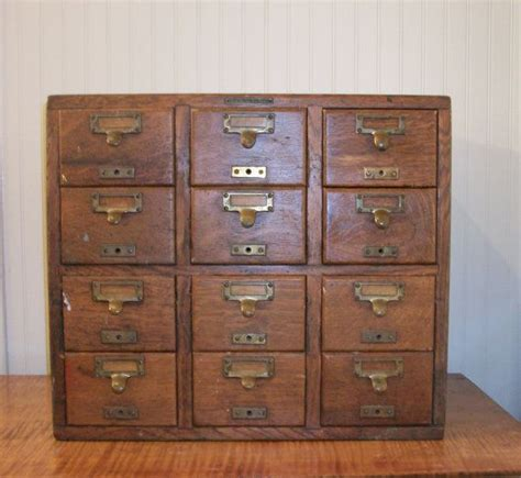Vintage Library Card File Cabinet by Antique 12 Drawer Oak Library Card Catalog Library Bureau