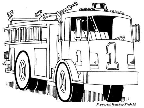 mewarnai gambar mobil pemadam kebakaran mewarnai gambar