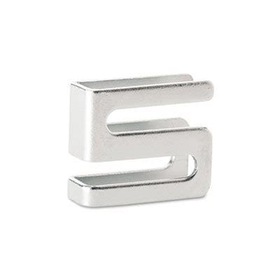 wire shelving s hooks metal silver 4 hooks pack alera