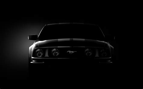 ford mustang black wallpaper hd