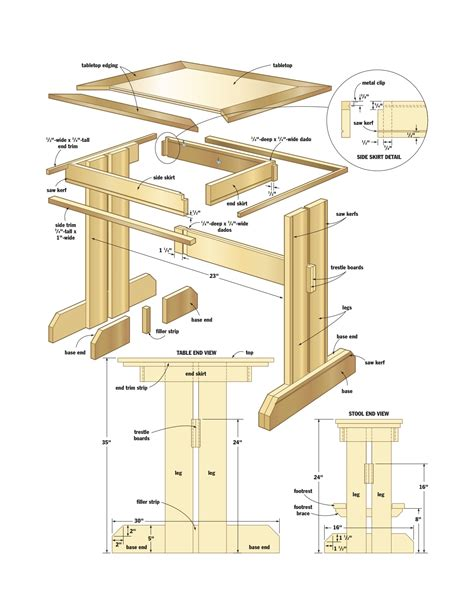 woodworking plans kitchen tables  woodworking