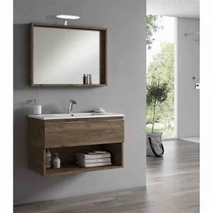 Meuble Sous Tv Suspendu : meuble sous vasque suspendu goa avec 1 tiroir robinet and co meuble suspendu ~ Teatrodelosmanantiales.com Idées de Décoration