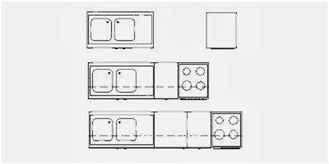 bloc cuisine autocad blocs de 8 types de mobilier de cuisine fichier autocad à