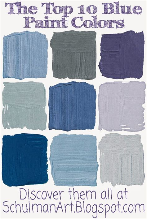 for the inspiration place 10 best blue paint