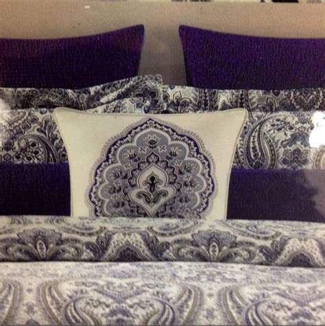 Cynthia Rowley Paisley Bedding by 6 Pc King Comforter Set Cynthia Rowley Navy Grey