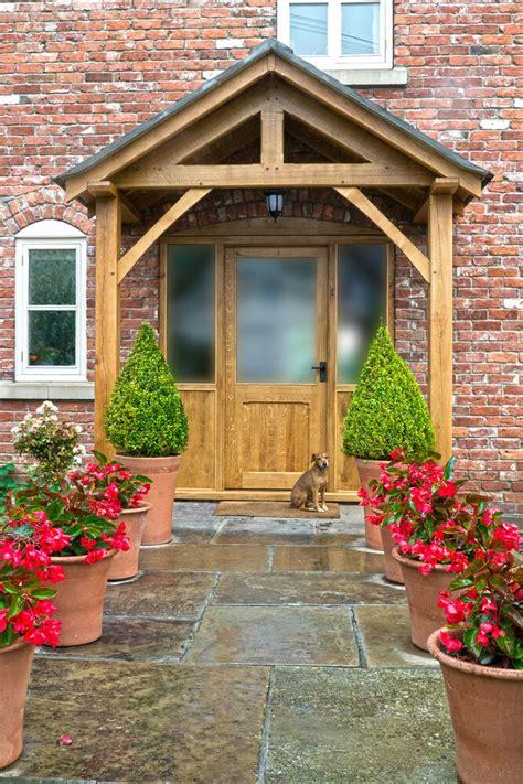 Front Door Porch by Bespoke Green Oak Porch Front Door Canopy Handmade In