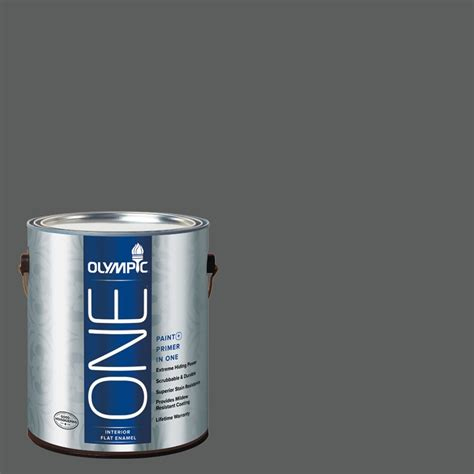 paint and primer in one shop olympic one knight s armor flat latex interior paint and primer in one actual net contents