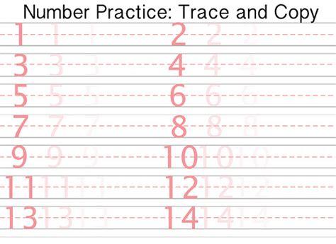 free printable number writing practice sheet flickr