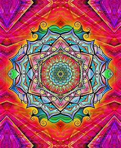 rainbow mandala with the flower of life | Mandala Art ...