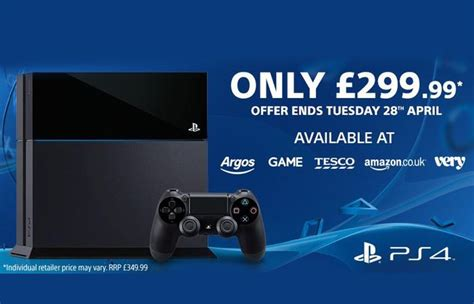 playstation 4 uk price reduce to 163 299 for a limited time
