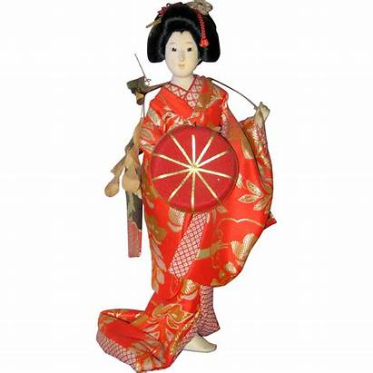 Doll Japanese Geisha Background Dancer 1970 Suzanstreasures