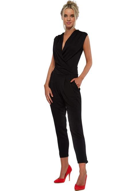 designer jumpsuits honor gold jumpsuit in black designer black jumpsuit