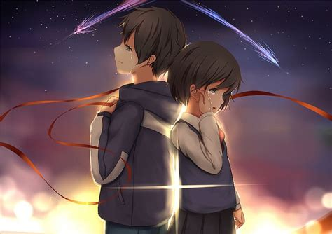Anime Couple Terpisah Kimi No Nawa Kimi No Nawa Kimi No Nawa Your Name Pinterest Anime