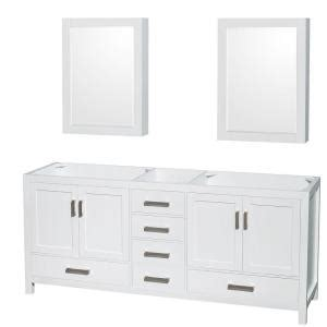 wyndham collection medicine cabinet wyndham collection sheffield 80 in double vanity cabinet