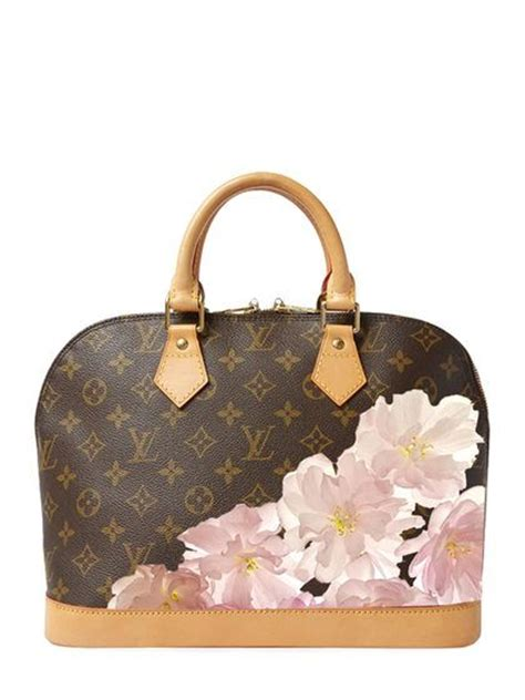 lv bag   hand painted customized