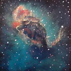 Carina Nebula Jet Painting by Alizey Khan