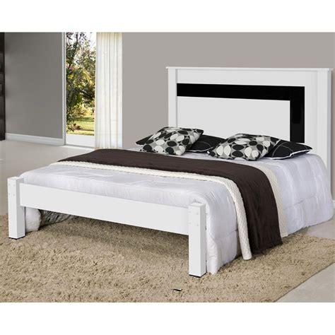 cama casal riviera em mdf branco preto gabrielli camas