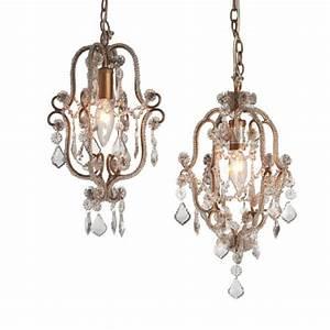 Antique Gold Beaded Pendant Chandelier Swag Lamp Set (Set