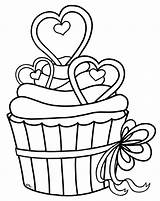Cupcake Drawing Line Clip Library Clipart sketch template