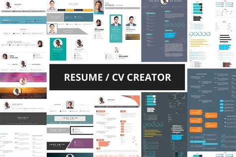 Resume Creator Mobile by Resume Cv Creator Kit Resume Templates Creative Market