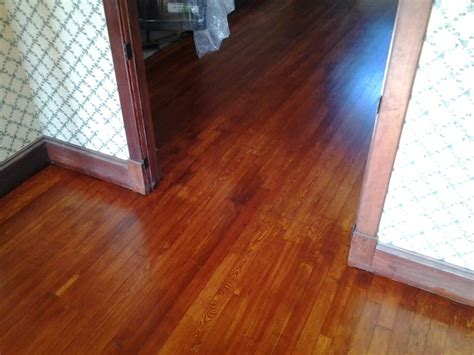 gunstock stain on rustic fir traditional living room