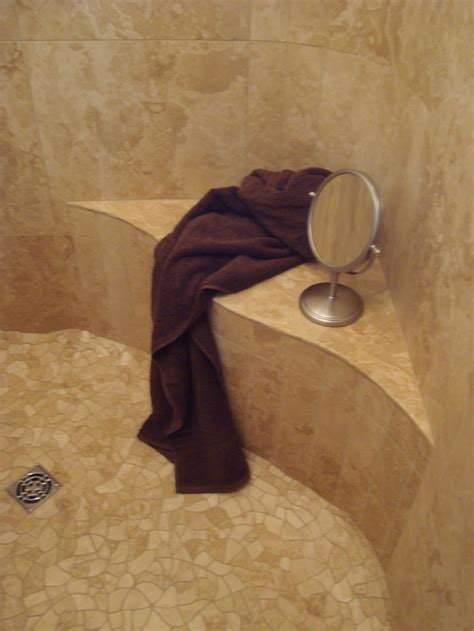 tumbled marble tile or marble shower benches seats shower stalls