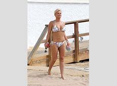 Kerry Katona shows off weight loss in bikini in Spain