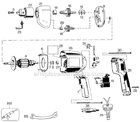 Speed Variable Trigger Drill Switch Wiring Diagram by Black And Decker 7190 04 Parts List And Diagram Type 6