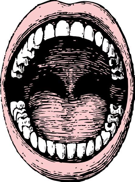 open mouth clip art  clkercom vector clip art