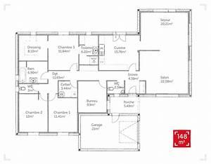construction d39une maison basse consommation de 150m2 aux With plan de maison 100m2 9 constructeur maisons bioclimatiqueskokoon constructeurs