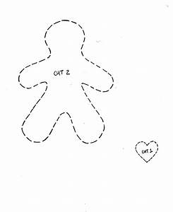 Cupcake cutie free christmas felt ornament pattern for Felt gingerbread man template