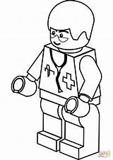 Coloring Lego Doctor Pages Printable Drawing Colorings sketch template