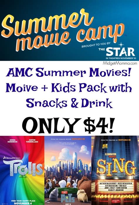 amc summer movies  snack pack   midgetmomma