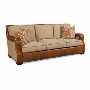 Fabric And Leather Combination Sofa