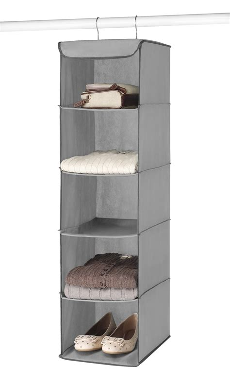 Whitmor Hanging 5 Section Accessory Shelves Grey Complete
