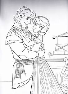 Walt Disney Coloring Pages - Kristoff & Princess Anna ...