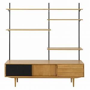 Meuble Tv Avec Etagere : meuble tv tag re vintage 3 portes sheffield maisons du monde ~ Teatrodelosmanantiales.com Idées de Décoration
