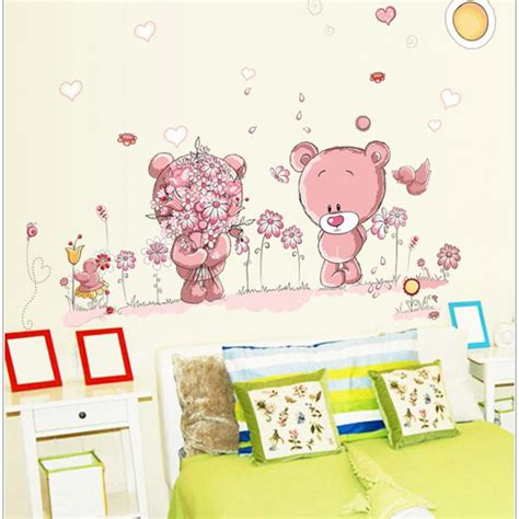 sticker ourson chambre b removable wall stickers decal wall