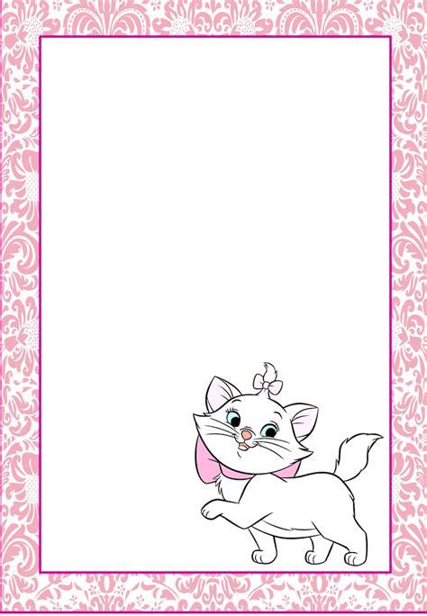 marcos invitaciones tarjetas o etiquetas de de los aristogatos para imprimir gratis
