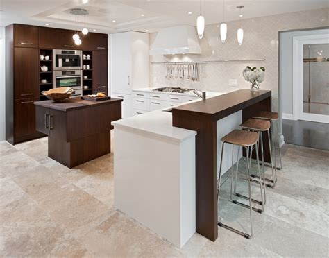 kitchen bar counter breakfast bar countertop kitchen contemporary with