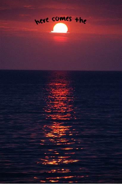 Sunset Quotes Ocean Sun Nature Trippy Landscape
