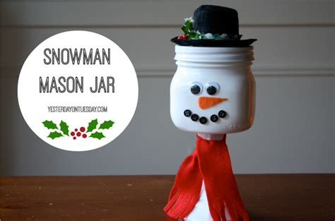 Halloween Candy Dish With Lid by Snowman Mason Jar Yesterday On Tuesday