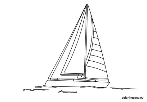 sailboat coloring page coloring page