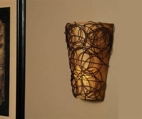 battery powered fluted led wall sconce decoist