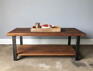 reclaimed oak wood coffee table lower shelf metal legs With reclaimed wood coffee table metal legs