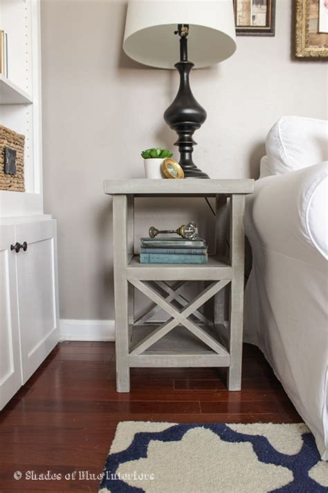 simple gray  tall nightstand bedside table ideas
