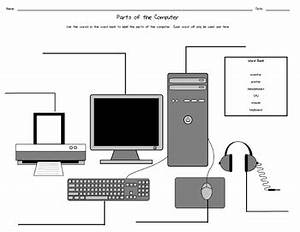parts of the computer worksheet by down to the wire With pc diagram image