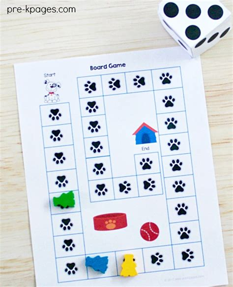 pets theme activities and centers for preschool 102 | Pet Theme Path Game for Preschool