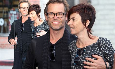 Guy Pearce grabs his wife Kate Mestitz's breast